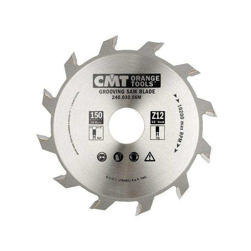 Cmt Orange Tools - 240.060.06M LAME CIRCULAIRE 150X6X30 Z=12 PLAN