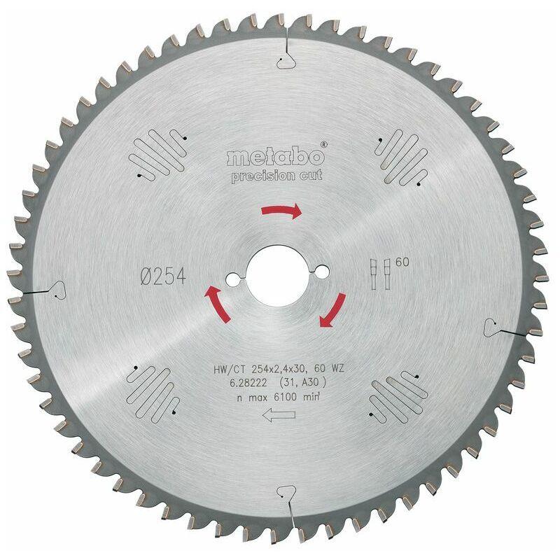 Metabo HW/CT Lame de scie circulaire - 60D - 254mm