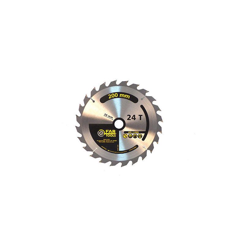 Fartools - Lame de scie circulaire à onglets et portatives bois D. 200 x Al. 20