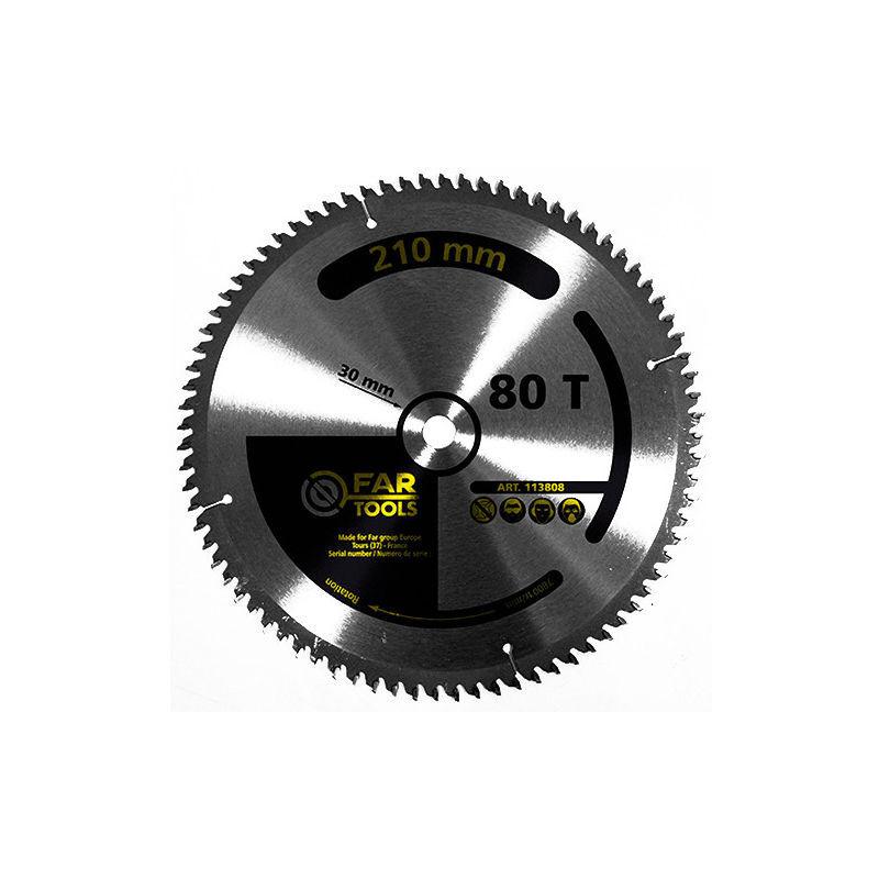 FARTOOLS Lame de scie circulaire à onglet et portative plastique / PVC D. 210 x Al. 25,4