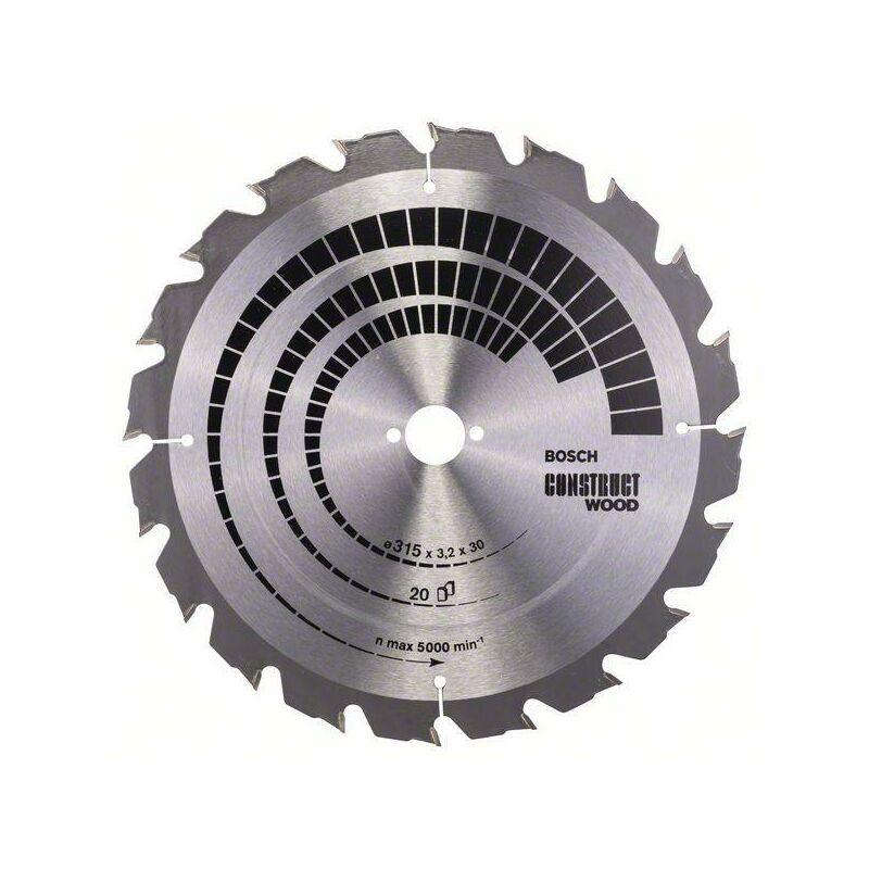 Bosch Lame de scie circulaire Construct Wood, 315 x 30 x 3,2 mm, 20 - 2608640691