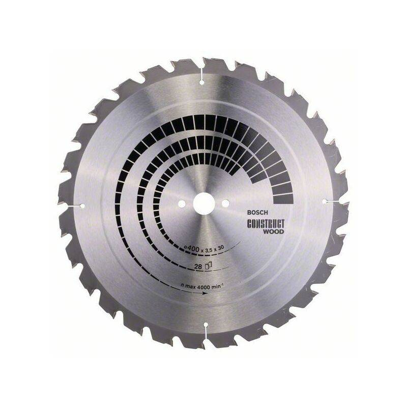 Bosch Lame de scie circulaire Construct Wood, 400 x 30 x 3,5 mm, 28 - 2608640693