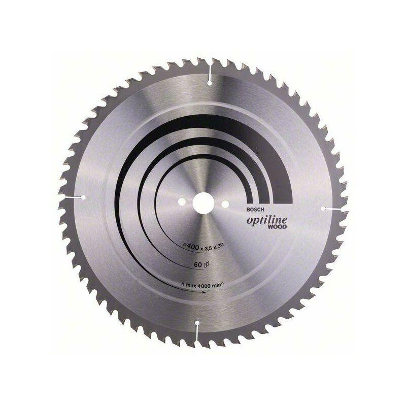 Bosch Lame de scie circulaire Optiline Wood pour scies circulaire de table, 400