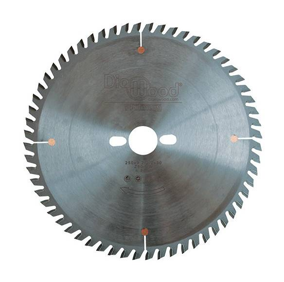 DIAMWOOD PLATINUM Lame de scie circulaire HM micrograin finition D. 250 x Al. 30 x ép. 3,2 mm x