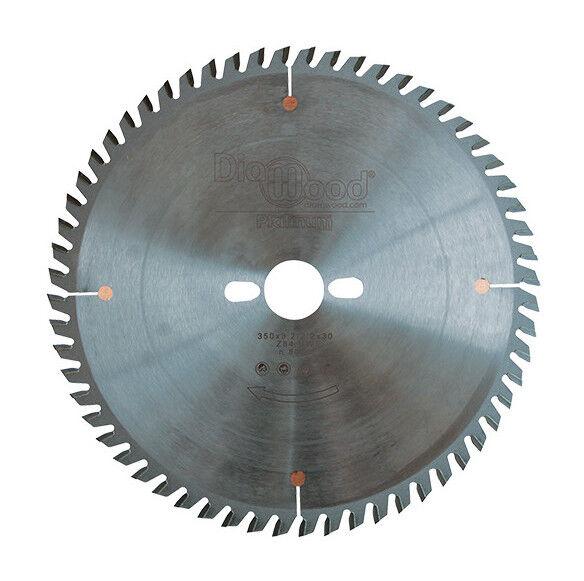 DIAMWOOD PLATINUM Lame de scie circulaire HM micrograin finition D. 350 x Al. 30 x ép. 3,5 mm x