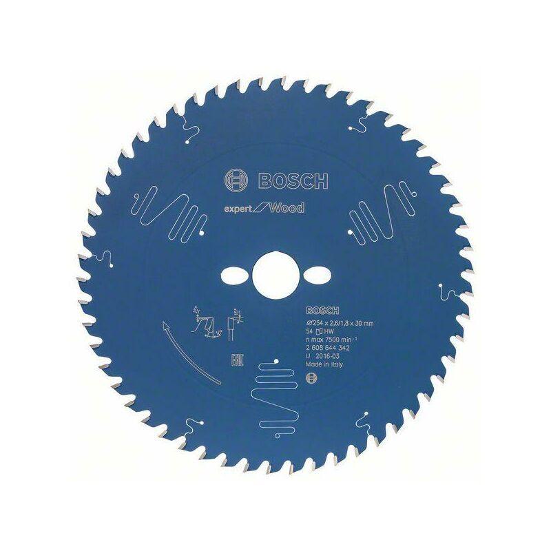 Bosch Lame de scie circularie EX WO, T 254x30-54, 254 x 30 mm, 54 - 2608644342
