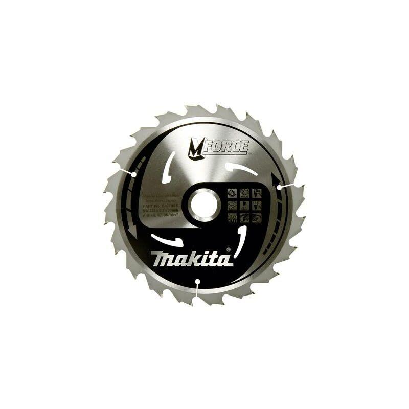 MAKITA Lame de scie circulaire Makita M-FORCE B-32041 190 x 30 x 1.2 mm Nombre de
