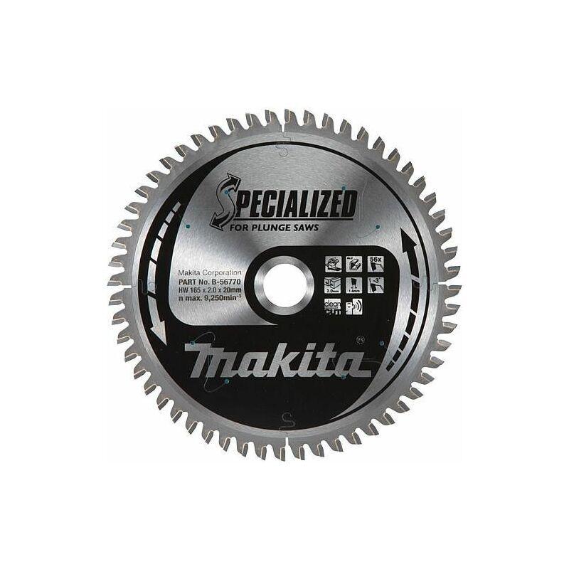MAKITA Lame de scie circulaire MAKITA Diam. 165 x 2,0 x 20 mm en bois et aluminium