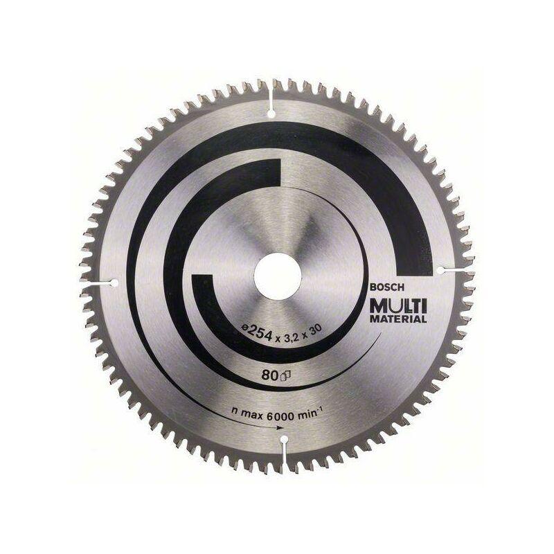 Bosch Lame de scie circulaire Multi Material 254 x 30 x 3,2 mm, 80