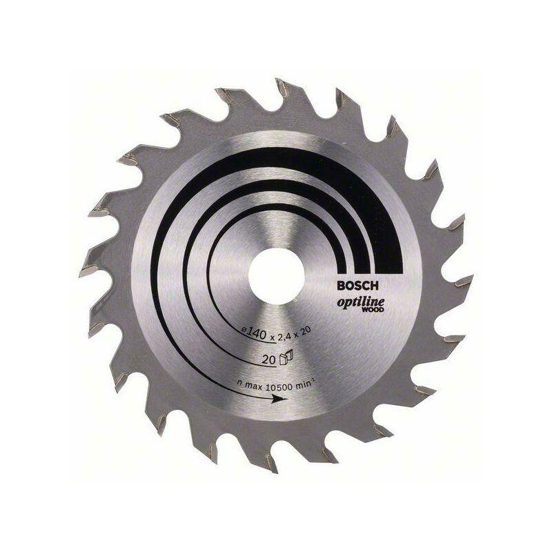 Bosch Lame de scie circulaire Optiline Wood, 140 x 20/12,7 x 2,4 mm, 20 dents
