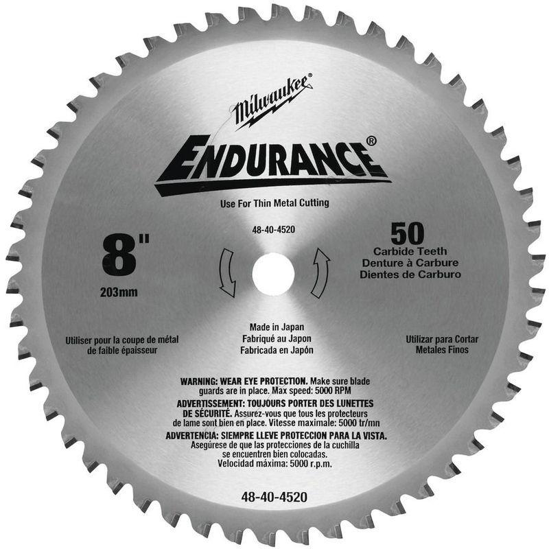 MILWAUKEE Lame scie circulaire métal MILWAUKEE Ø 203 mm - 50 dents - 48404520