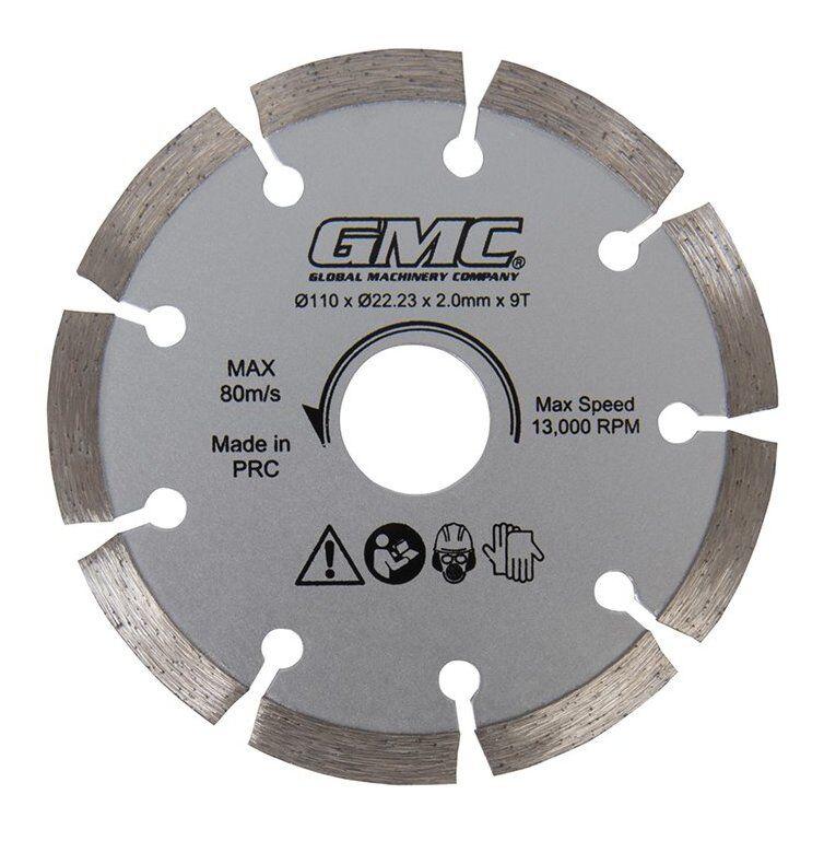 GMC Lame de scie diamant - GTS1500 - 110 x 22,23 x 2 mm, 9 dents