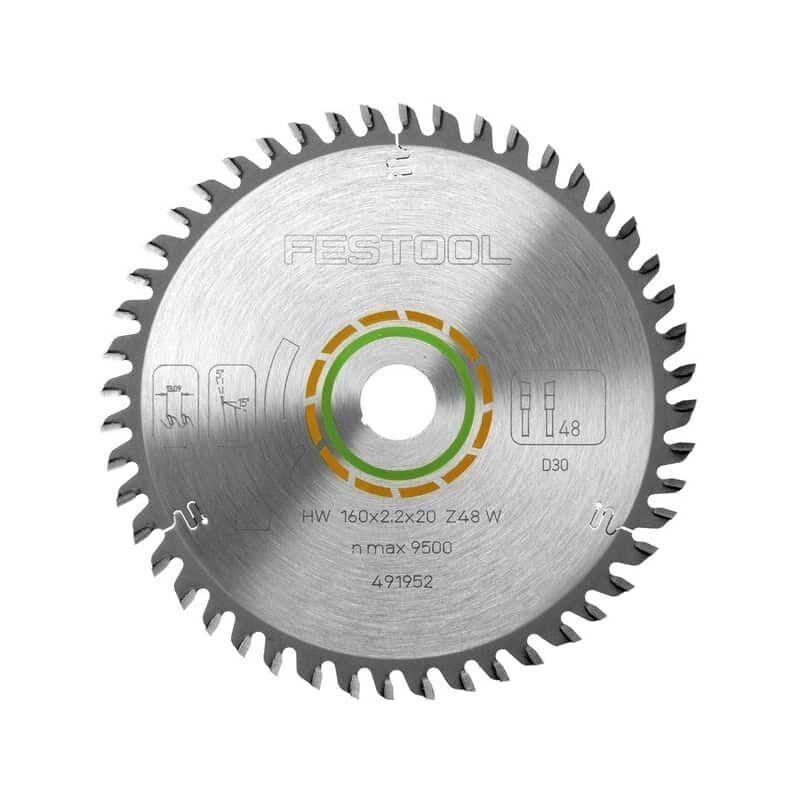 FESTOOL Lames de scie circulaire denture fine (Ø 160 mm - 2.2 mm - 20 mm - 48