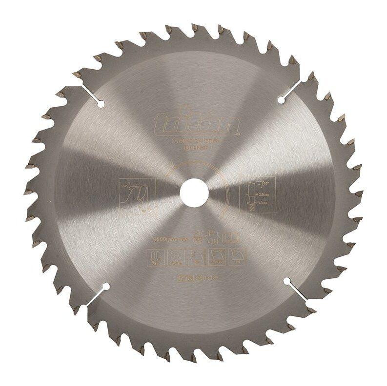 Triton - Lame de scie pour bois de construction - 190 x 16 mm / 40 dents
