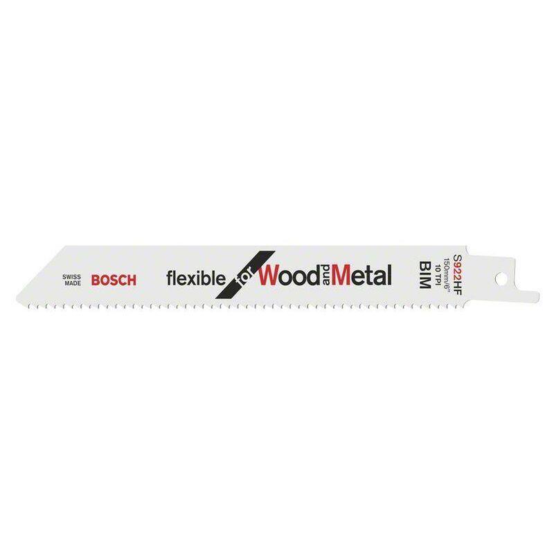 Bosch Lame de scie sabre S 922 HF Flexible for Wood and Metal - 2608656320