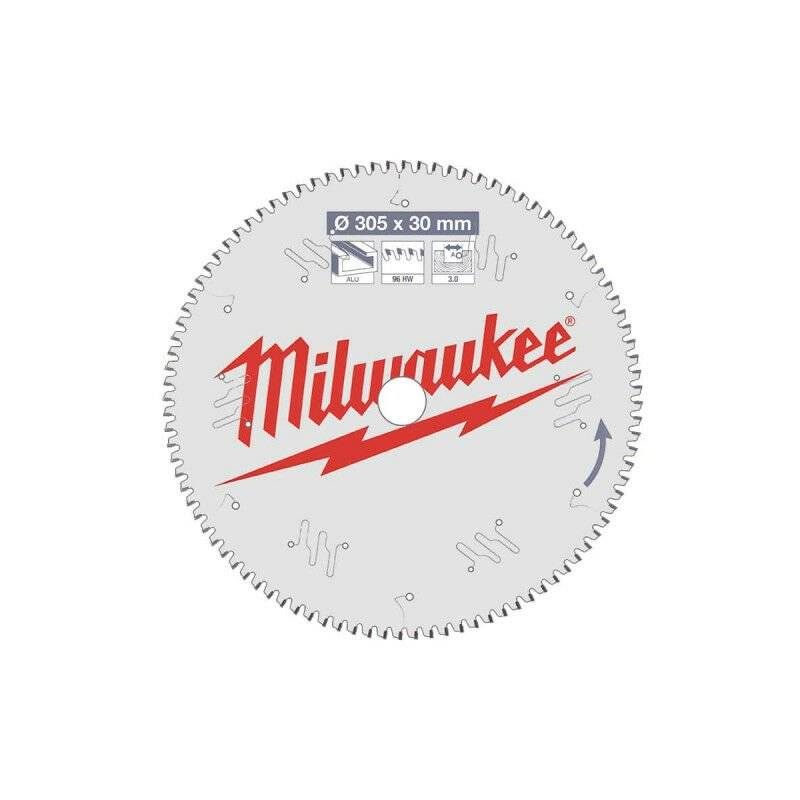 MILWAUKEE Lame scie circulaire MILWAUKEE pour scie à onglet 96 dents 3x305mm 4932471323