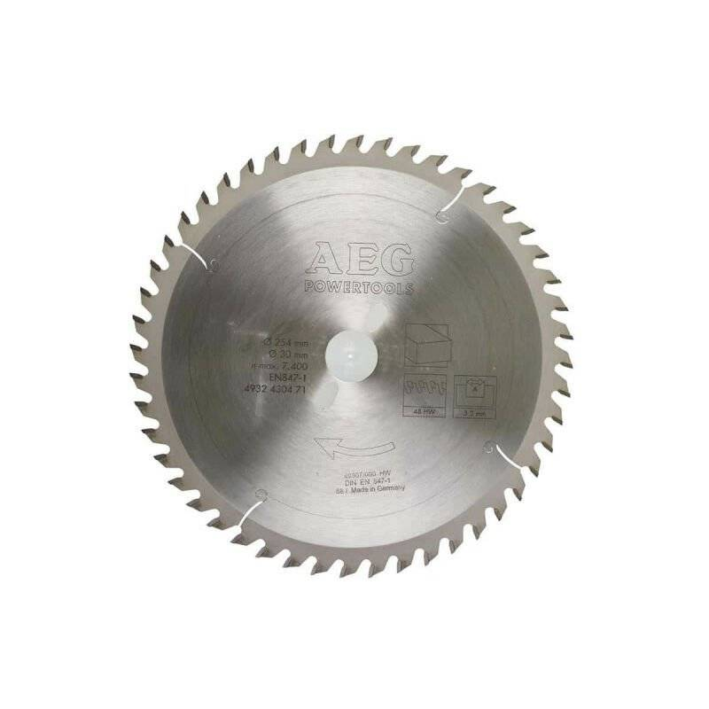 A.e.g - Lame scie radiale 48 dents AEG 3.2x254mm 4932430471