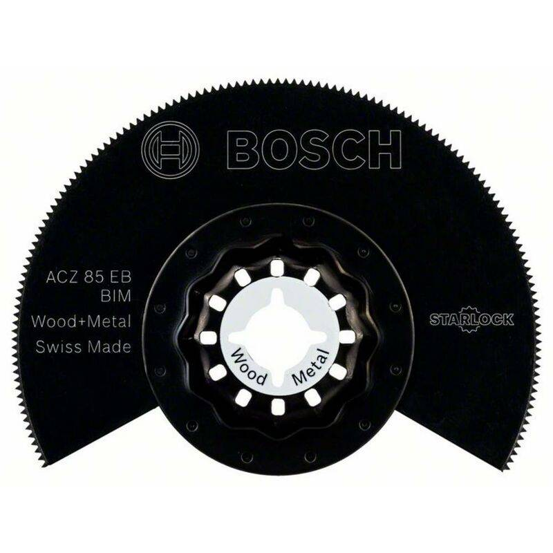BOSCH ACCESSORIES Lame pour Scie segment Bois et métal 85 mm Bosch 2609256943