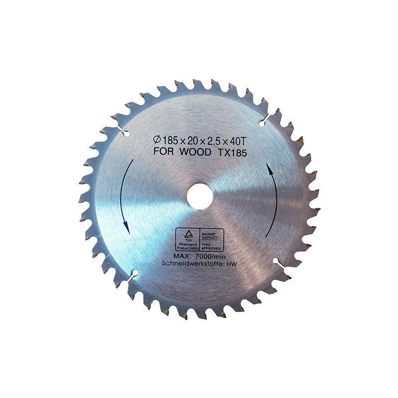 Fartools - Lame de scie circulaire bois / métal D. 185 x Al. 20 mm x 40 dents