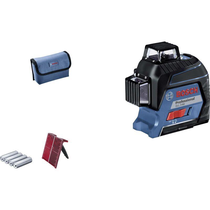BOSCH Laser à lignes Bosch Professional GLL 3-80 0601063S00 Portée (max.): 30 m 1