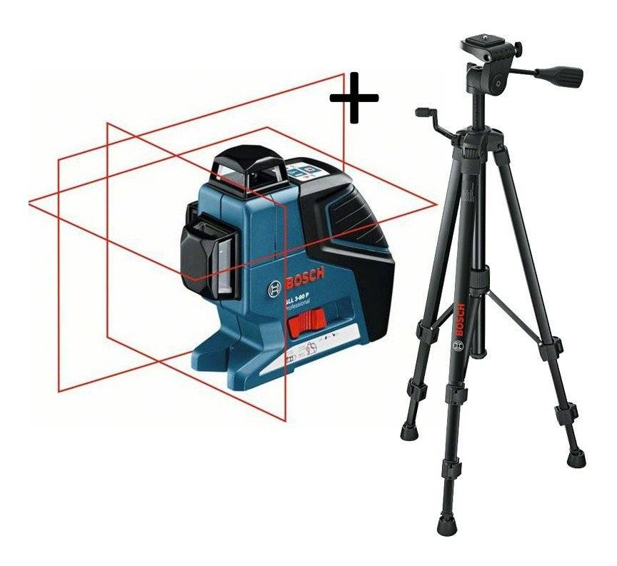 BOSCH Laser en croix GLL 3-80 C + trépied BT 150 BOSCH PROFESSIONAL - 0601063R01
