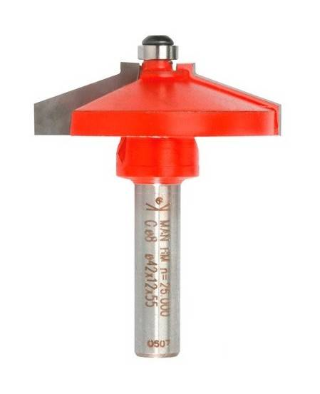 Sidamo - Mèche plate-bande Q. 8 x D. 42 x Lt. 55 mm + Guide à billes - 623015