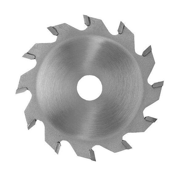 LEMAN Lame carbure à rainer D. 125 x ép dents 2,5 mm. x Al. 30 mm. 12 dents. Plate