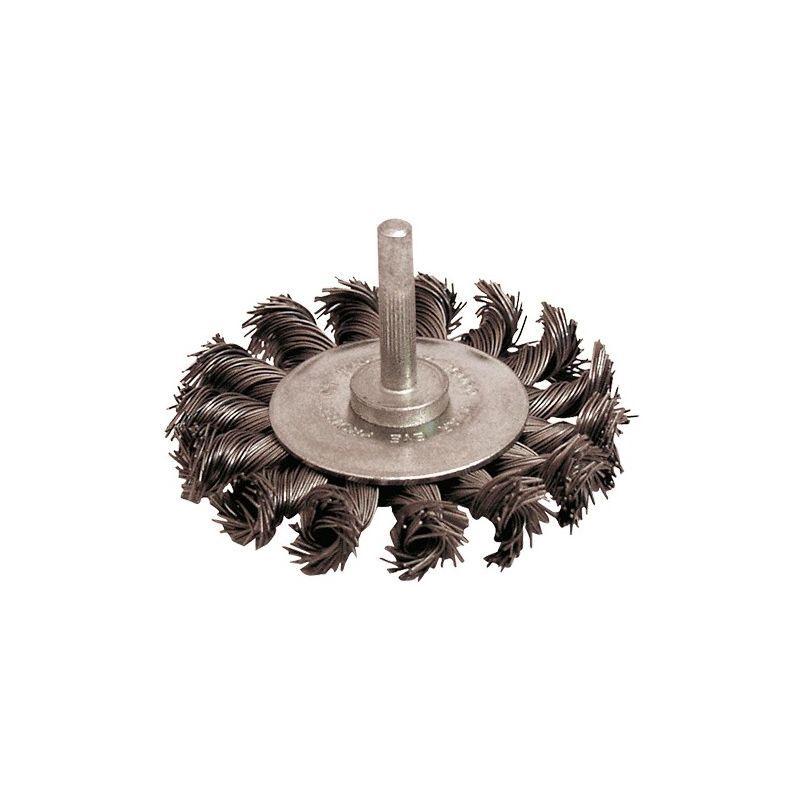 Leman - Lot de 10 brosses circulaires sur tige fil acier torsadé 0,50 mm D.70