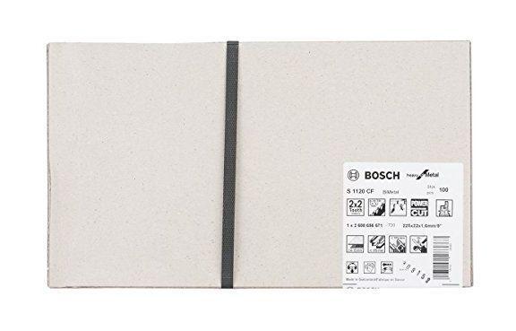 Bosch lame de scie sabre pour le métal S 1120 CF BIM Heavy for Metal 100 pièces