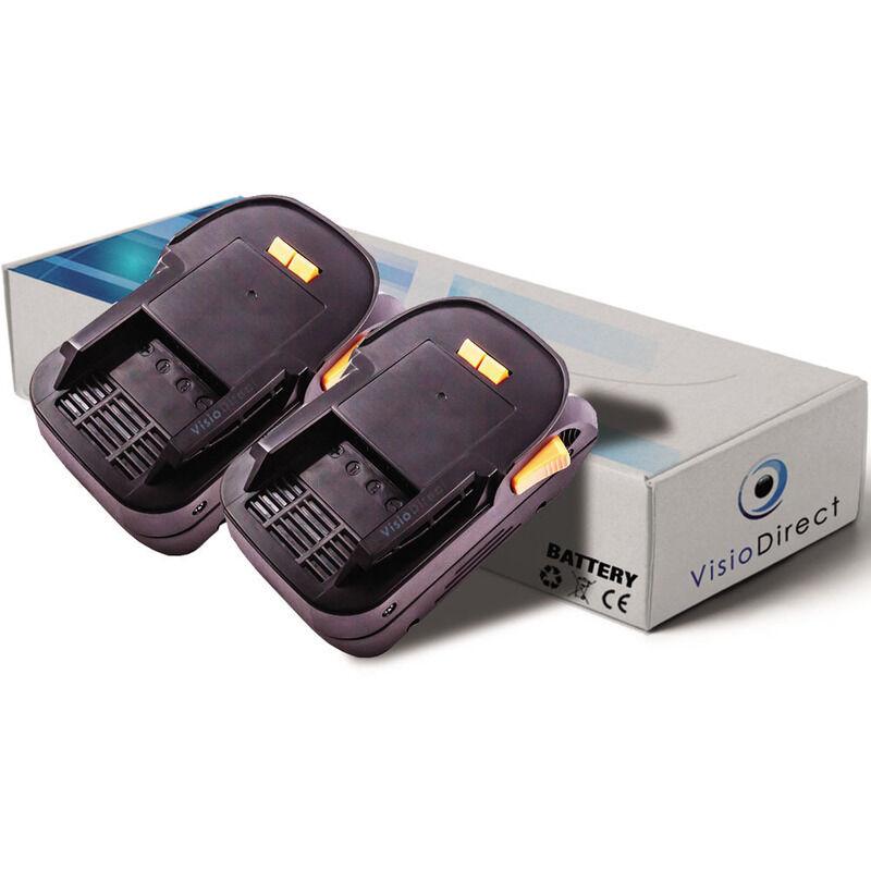 Visiodirect - Lot de 2 batteries pour AEG BHO18 rabot sans fil 3000mAh 18V
