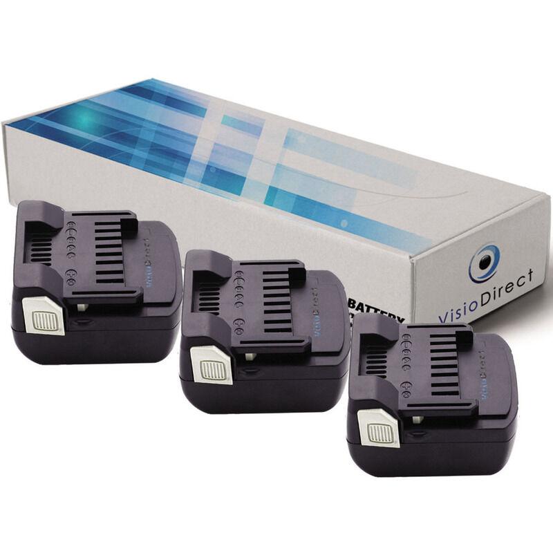 Visiodirect - Lot de 3 batteries pour Hitachi CJ 14DSL perceuse visseuse