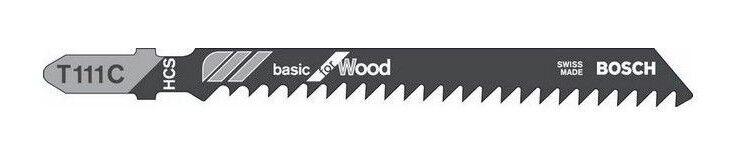 BOSCH 5 lames de scie sauteuse bois T111C - 2608630033