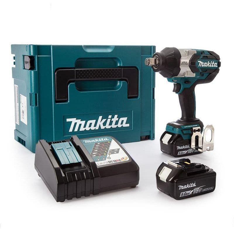 Makita DTW1001RTJ - Set clé à choc Li-Ion 18V (2x batterie 5,0Ah) dans MAKPAC