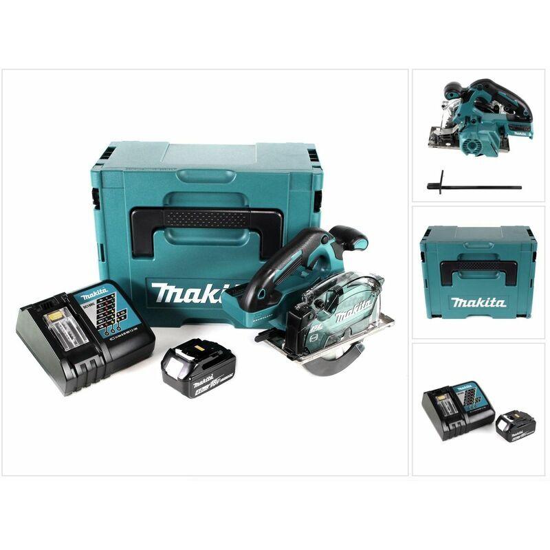 Makita DCS 553 RM1J Scie circulaire à main sans fil 18V 150 mm Brushless + 1x