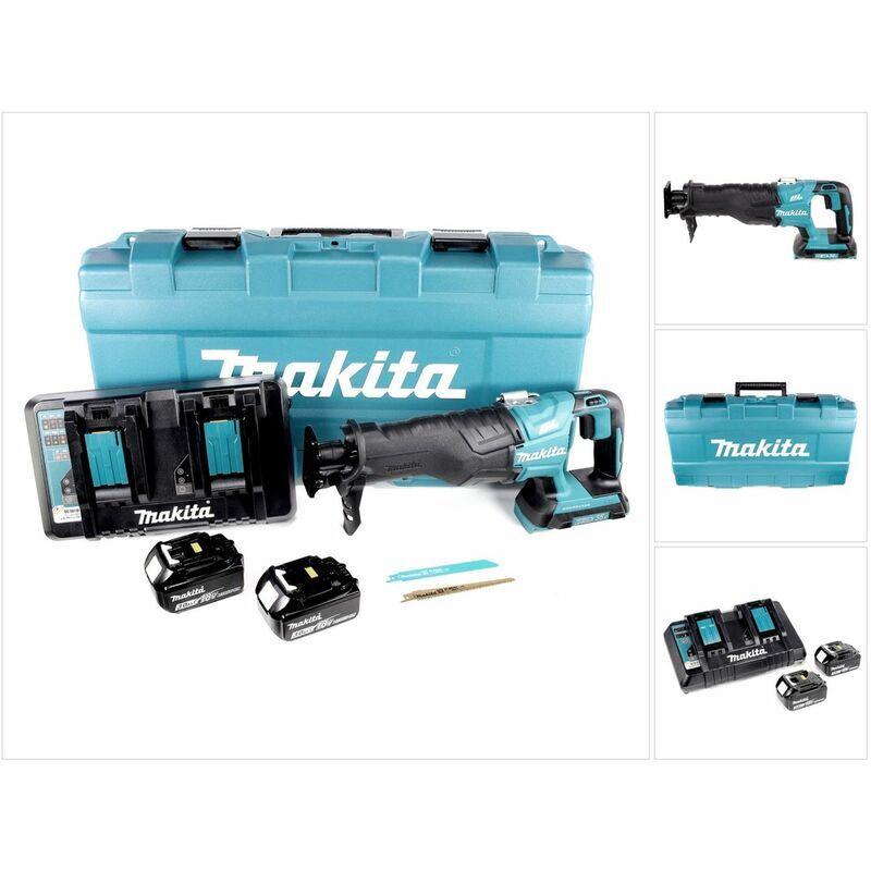 Makita DJR 360 PFJ Scie récipro sans fil 2x 18 V avec boîtier + 2x Batteries BL