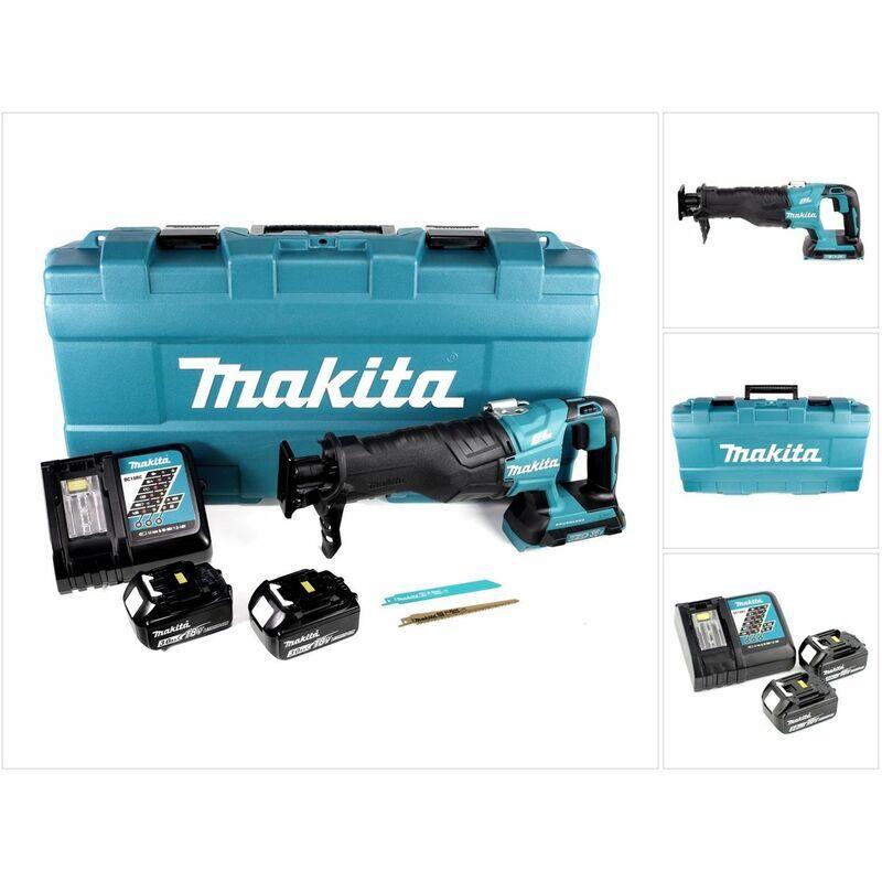 Makita DJR 360 RFK Scie récipro sans fil 2x 18 V avec boîtier + 2x Batteries BL