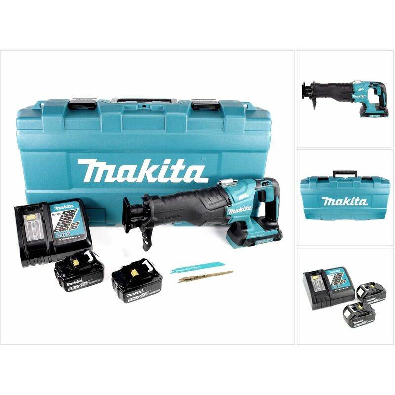 Makita DJR 360 RTK Scie récipro sans fil 2x 18 V avec boîtier + 2x Batteries BL