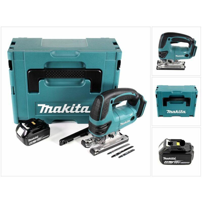 Makita DJV 180 M1J Scie sauteuse sans fil 18V + 1x Batterie 4.0Ah + Makpac