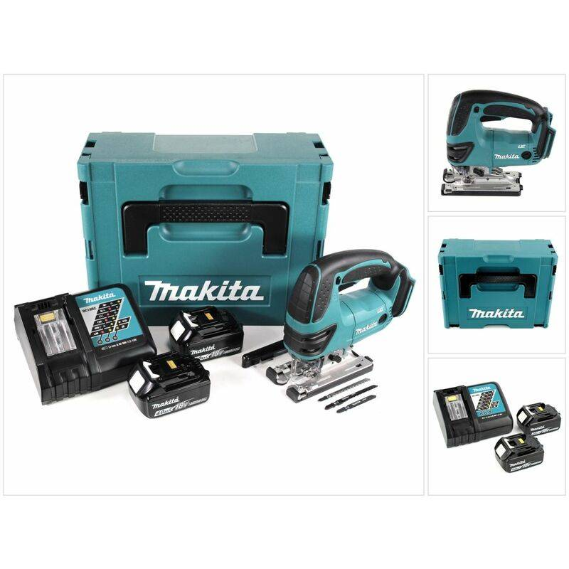 Makita DJV 180 RMJ Scie sauteuse sans fil 18V + 2x Batteries 4.0Ah + Chargeur +