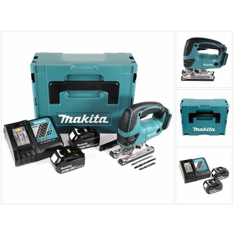 Makita DJV 180 RTJ Scie sauteuse sans fil 18V + 2x Batteries 5.0Ah + Chargeur +