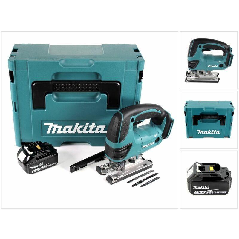 Makita DJV 180 T1J Scie sauteuse sans fil 18V + 1x Batterie 5.0Ah + Makpac
