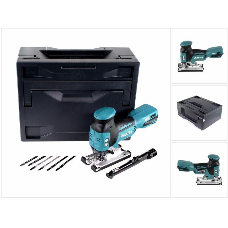 Makita DJV 181 ZX Scie sauteuse pendulaire sans fil 18V Brushless + Makbox + 6x