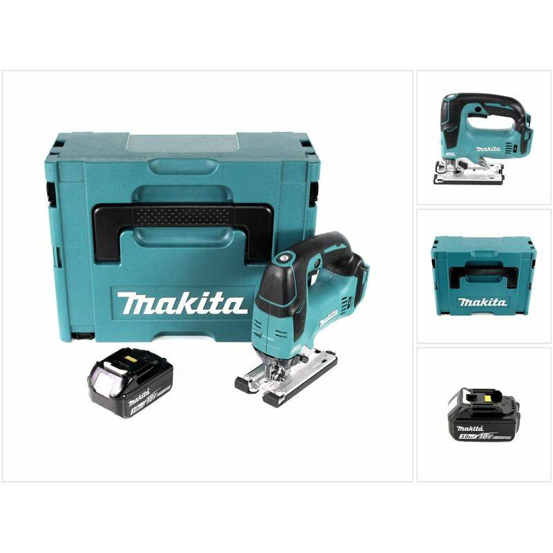 Makita DJV 182 F1J Scie sauteuse sans fil 18V Brushless 26mm + Coffret de