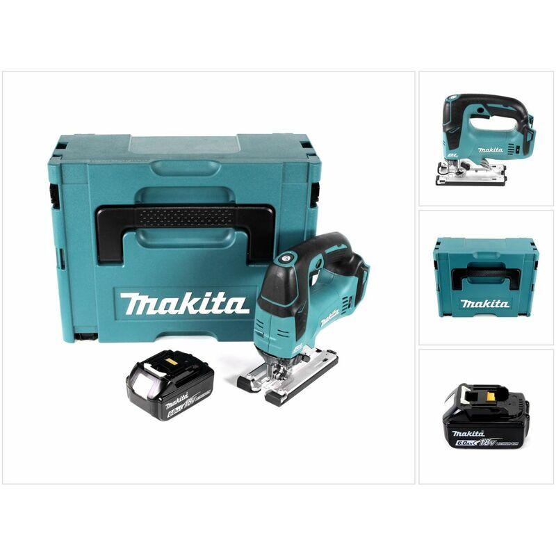 Makita DJV 182 G1J Scie sauteuse sans fil 18V Brushless 26mm + Coffret de