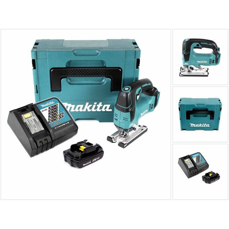 Makita DJV 182 Kit Y1J-D Scie Sauteuse sans fil Li-ion 18 V avec boîtier MAKPAC
