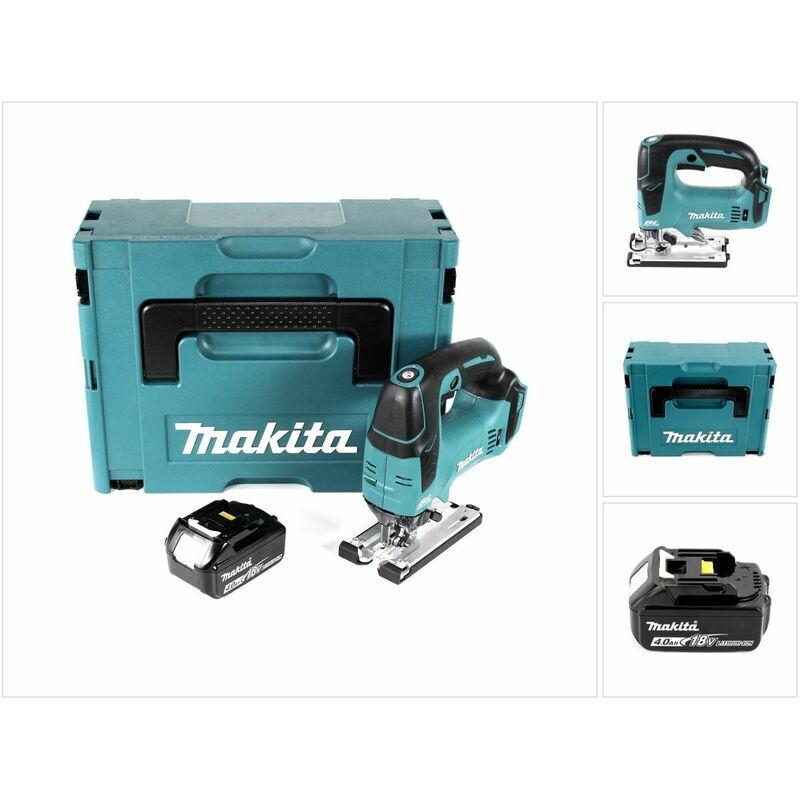 Makita DJV 182 M1J Scie sauteuse sans fil 18V Brushless 26mm + Coffret de