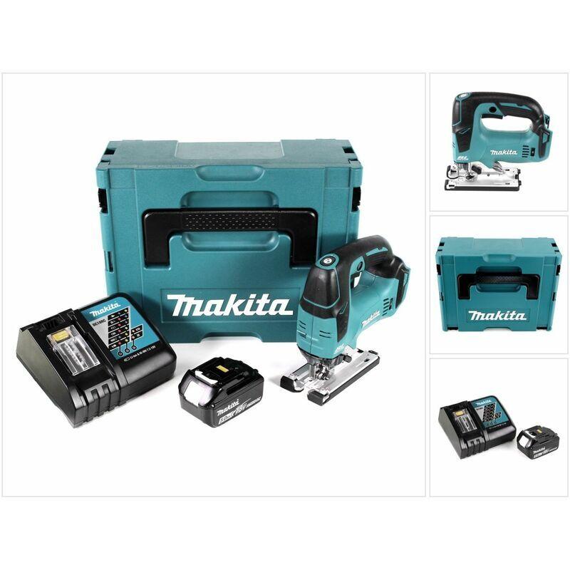 Makita DJV 182 RG1J Scie sauteuse sans fil 18V Brushless + 1x Batterie 5,0Ah +