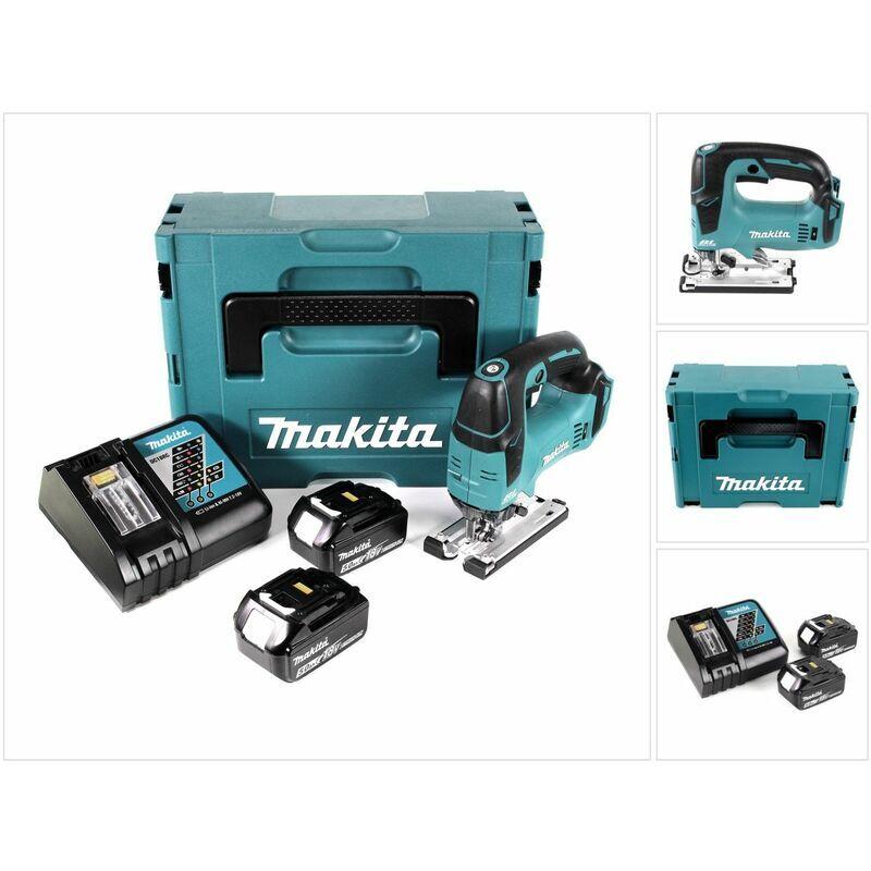 Makita DJV 182 RG1J Scie sauteuse sans fil 18V Brushless + 2x Batteries 5,0Ah +