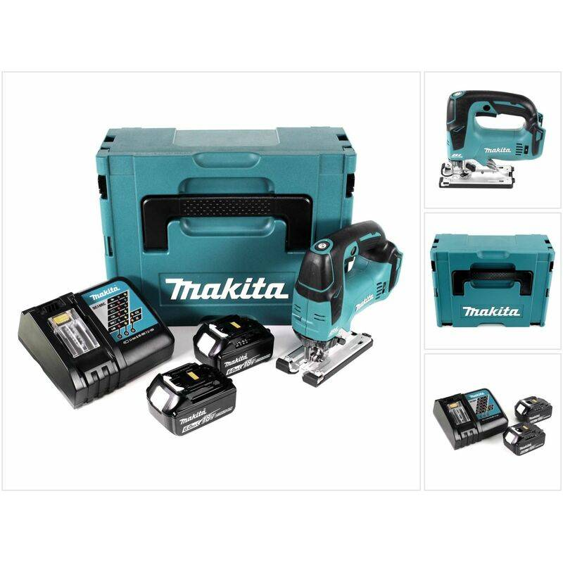 Makita DJV 182 RGJ Scie sauteuse sans fil 18V Brushless + 2x Batteries 6,0Ah +