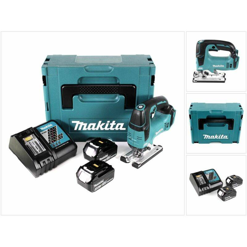 Makita DJV 182 RMJ Scie sauteuse sans fil 18V Brushless + 2x Batteries 4,0Ah +
